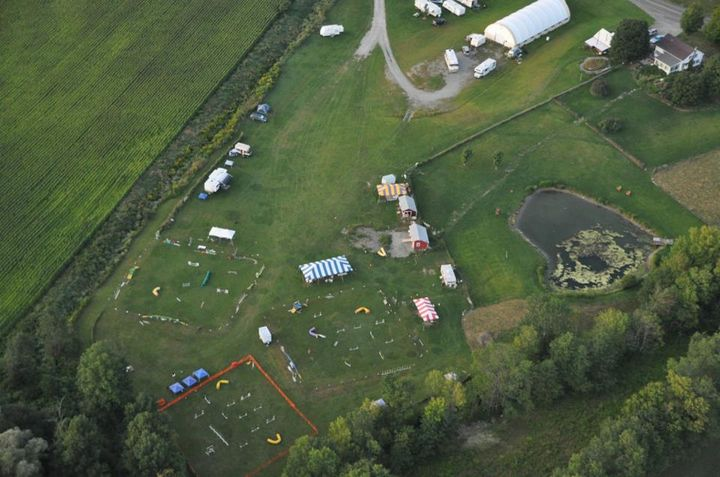 Aerial view of camp